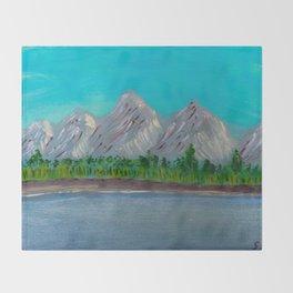 Mountain Lake Throw Blanket