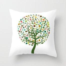 Autumn Leaves - Tree Hugger Design Throw Pillow
