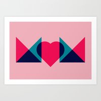 HEART MOM Art Print