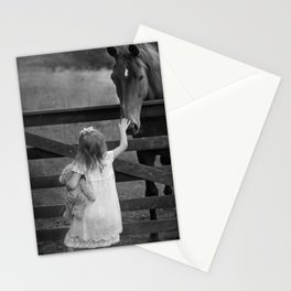 girl, bear, and horse Stationery Cards