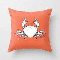 crab Throw Pillows featuring Crab by Josè Sala