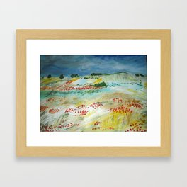 Poppy Field Acrylic Fine Art Van Gogh Interpretation Framed Art Print