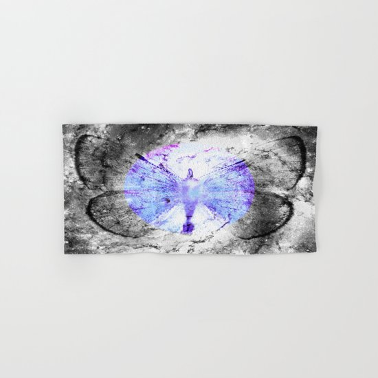 Celestial Butterfly Pop of Color Periwinkle Hand & Bath Towel