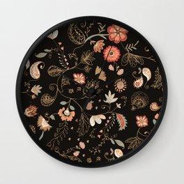 Paisley Florals Wall Clock