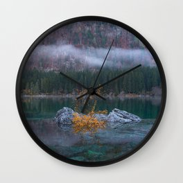 green yellow 3 Wall Clock