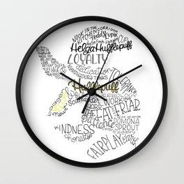 Hufflepuff House Crest Wall Clock