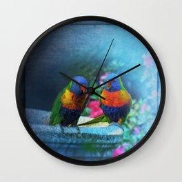 Rainbow Lorikeets Wall Clock