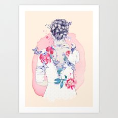 Undress me Art Print