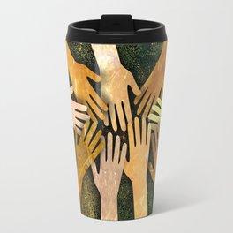 Grunge Community of Hands Travel Mug