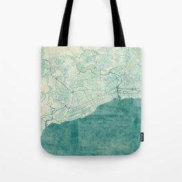 Santo Domingo Map Blue Vintage Tote Bag