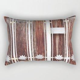 Stars on wood Rectangular Pillow