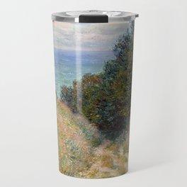"""Claude Monet """"Road at La Cavée, Pourville"""" Travel Mug"""