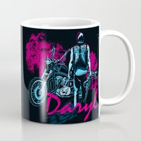 daryl Mugs featuring Daryl Drive by Tracey Gurney