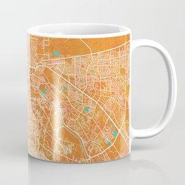 El Paso, TX, USA, Gold, Blue, City, Map Coffee Mug