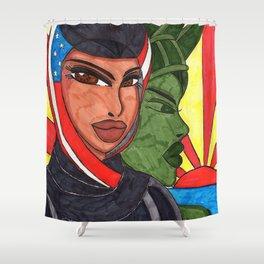 An American Girl Shower Curtain