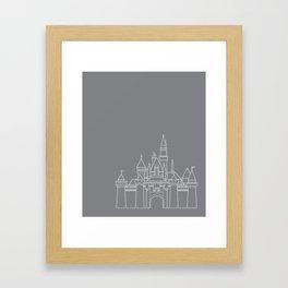 Sleeping Beauty's Castle // Disneyland Framed Art Print