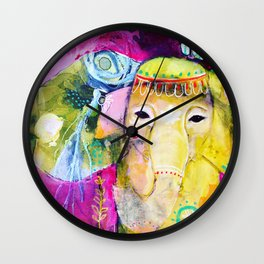 A Soft Place to Fall Wall Clock