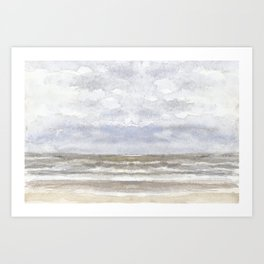 Sea light- horizon Art Print