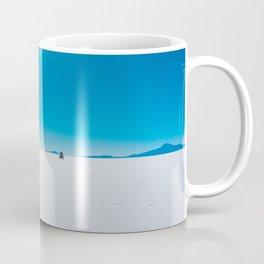 In the Distance, Salar de Uyuni, Bolivia Salt Flats Coffee Mug