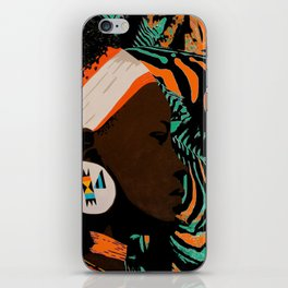 Zulu girl with zebraprint iPhone Skin