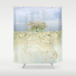 landscape 004c: 藍の空 (indigo sky) Shower Curtain
