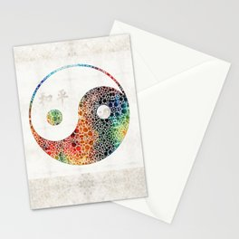 Yin And Yang - Colorful Peace - By Sharon Cummings Stationery Cards