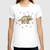 bedding T-shirts featuring Triceratops & Triangles by micklyn
