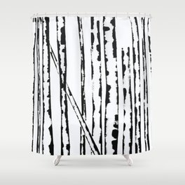 Nature's Barcode Shower Curtain