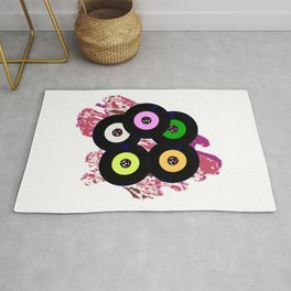 Singles Collection Jazz Background Rug