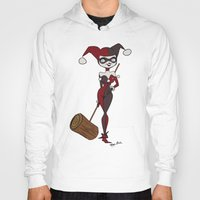 harley Hoodies featuring Harley by The Batty Bird