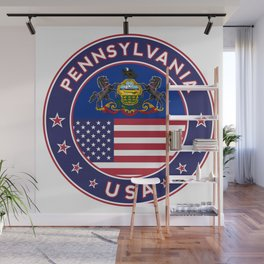Pennsylvania, Pennsylvania t shirt, sticker, poster Wall Mural