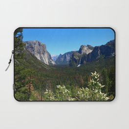 Bridal Veil Falls From Tunnel View Point - Yosemite Valley Laptop Sleeve