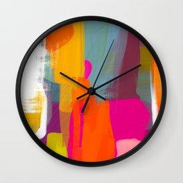 color study abstract art 2 Wall Clock