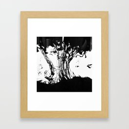 ink drops Framed Art Print