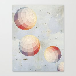 I found you falling from the sky Canvas Print