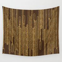 plants Wall Tapestries featuring Plants over the water by Anna Grunduls
