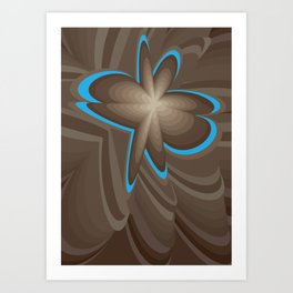 Wood flower 1 Art Print