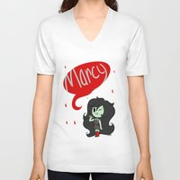 marceline V-neck T-shirts featuring Marceline by dartty