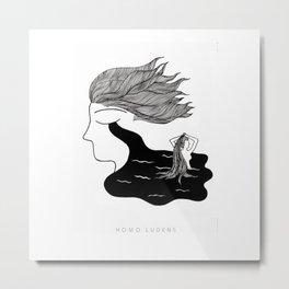 Men Cry More Metal Print