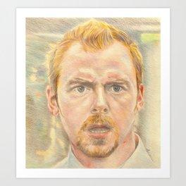 Simon Pegg Art Print