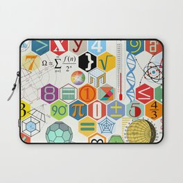Math in color (white Background) Laptop Sleeve