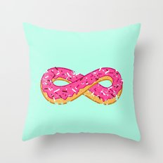 To infinity…and donut! Throw Pillow