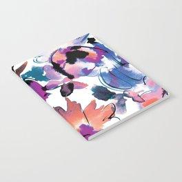 Sara Floral Blue Notebook