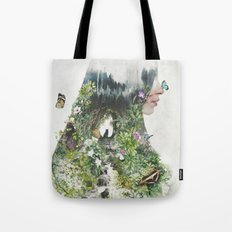 Cat in the Garden of Your Mind Tote Bag