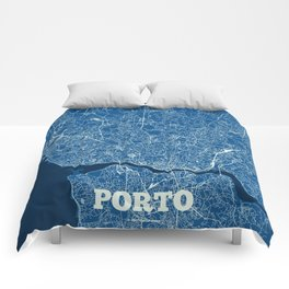 Porto, Portugal street map Comforters