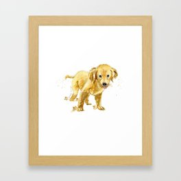 Happy Pup Framed Art Print