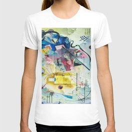 Displacement Glitch-Colorful Abstract Art T-shirt