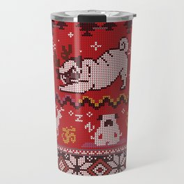Pugly Yoga X-Mas Travel Mug