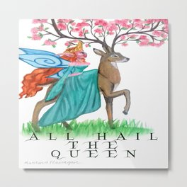 Fairy Queen and Her steed Metal Print