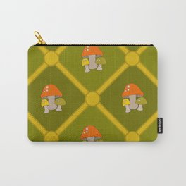 Retro Mushrooms Carry-All Pouch